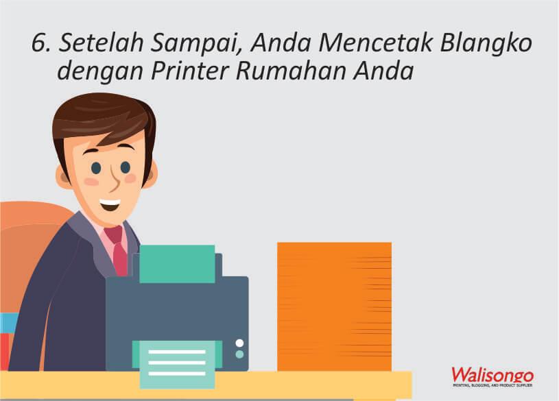 Setelah Sampai, Anda Mencetak Blangko dengan Printer Rumahan Anda