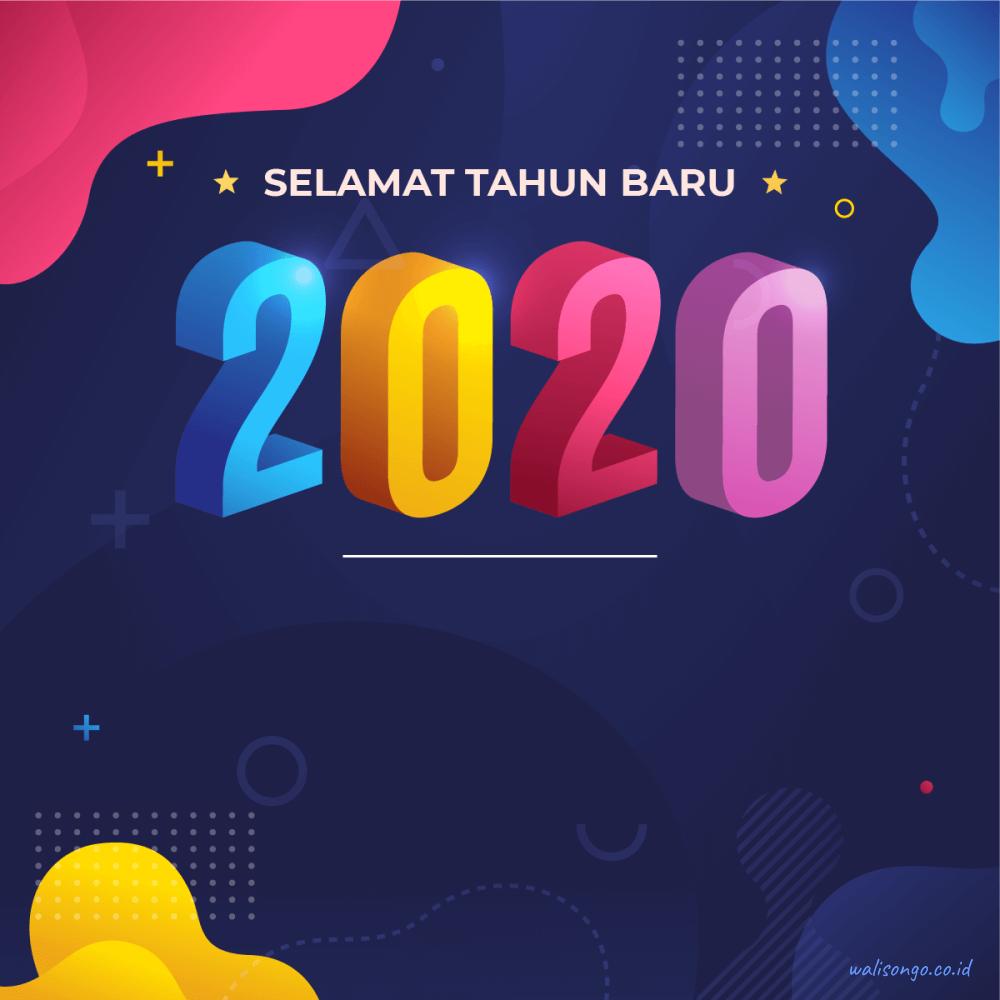 background selamat tahun baru 2020