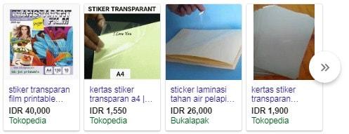 stiker transparan