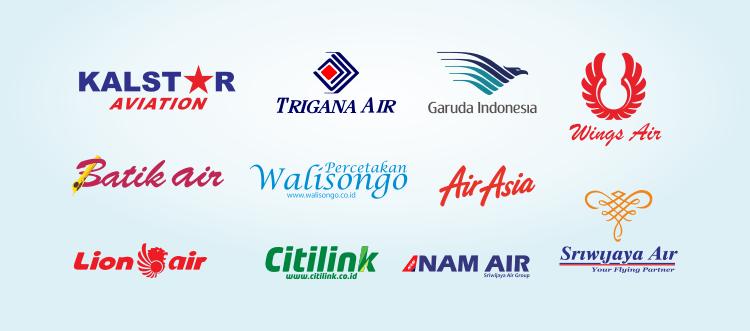 Logo Maskapai Penerbangan Vektor