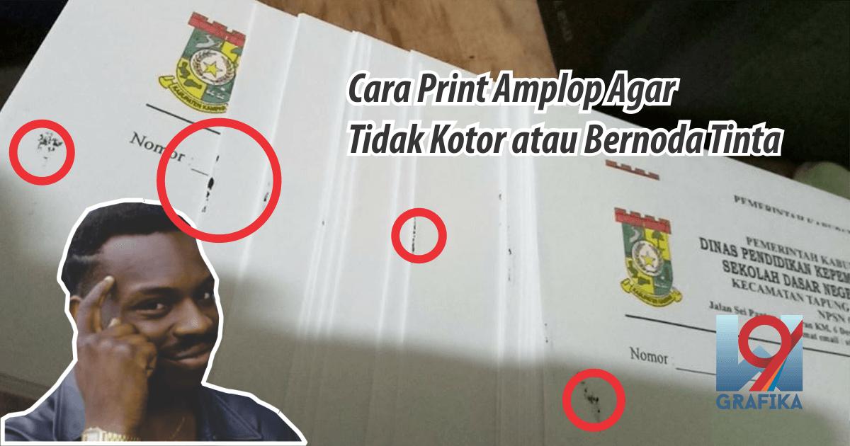 cara print amplop