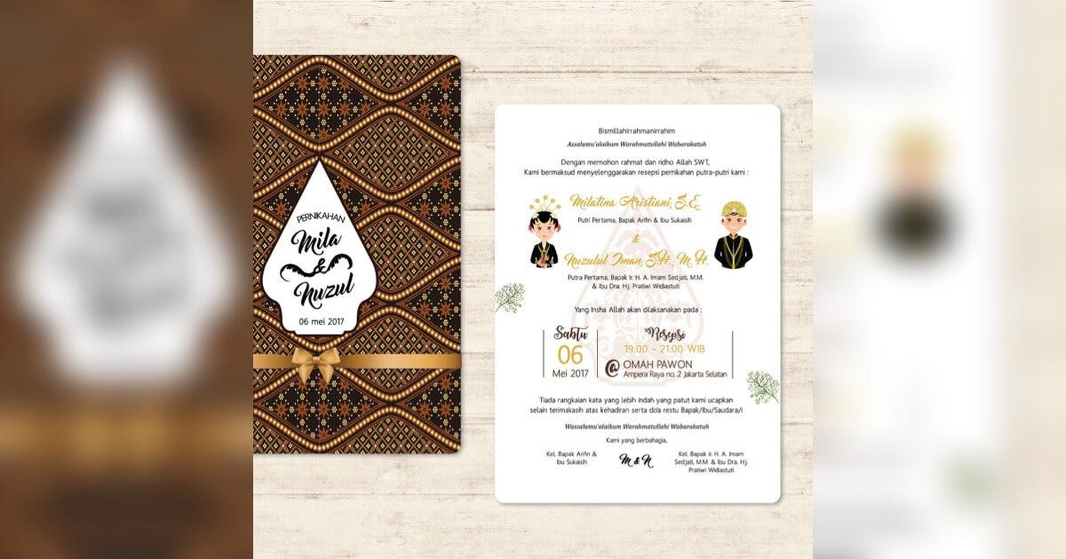 440 Koleksi Ide Contoh Desain Undangan Pernikahan Tema Jawa HD Download Gratis