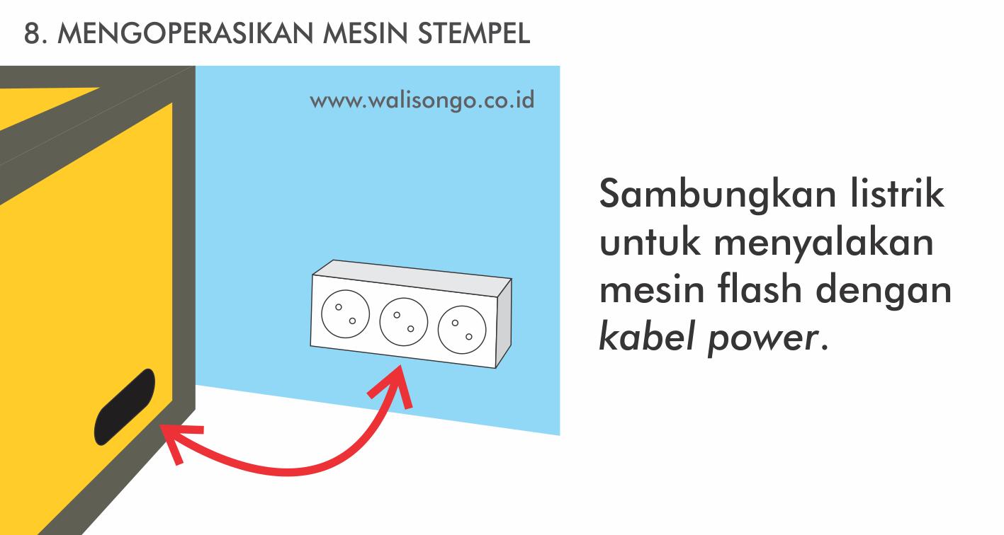 Menggunakan Mesin Stempel