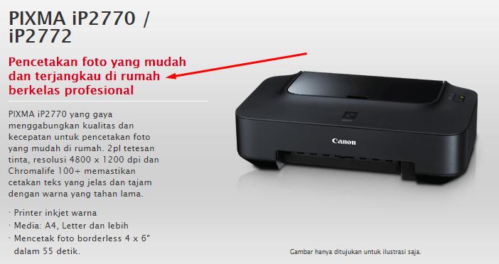 Printer Canon IP2770 cepat rusak
