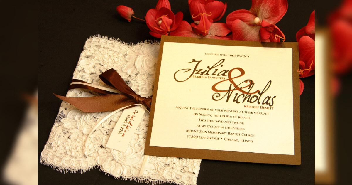 Undangan Pernikahan elegan