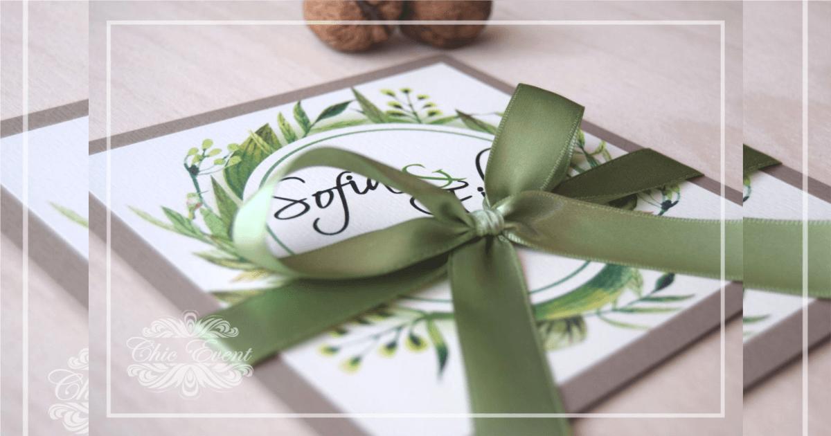 Undangan Pernikahan simpel hijau