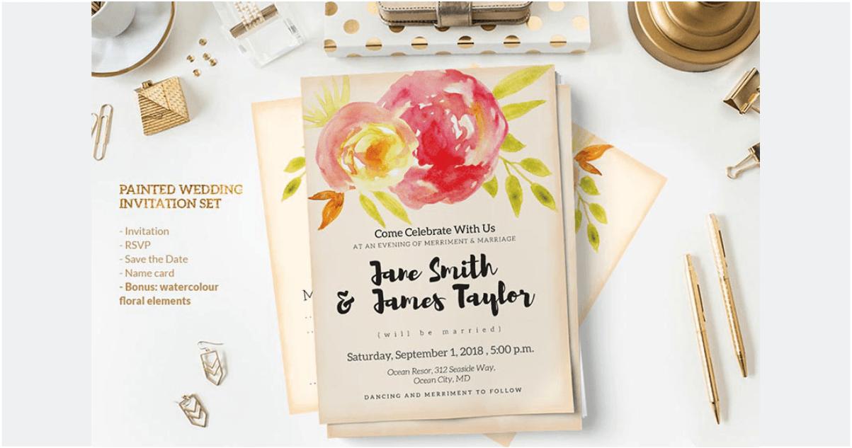 Undangan Pernikahan berwarna