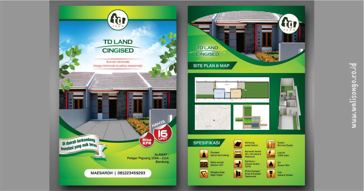desain brosur properti