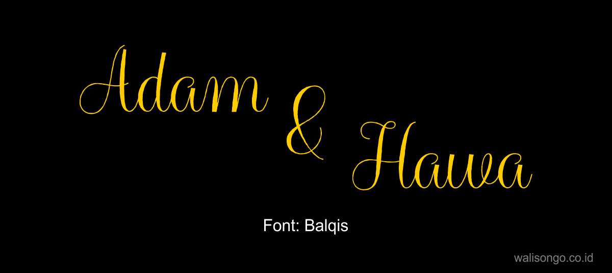 contoh font elegan