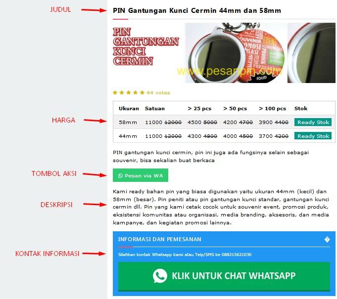 konten website bisnis