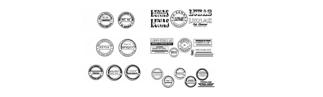 Contoh Format Stempel Lengkap