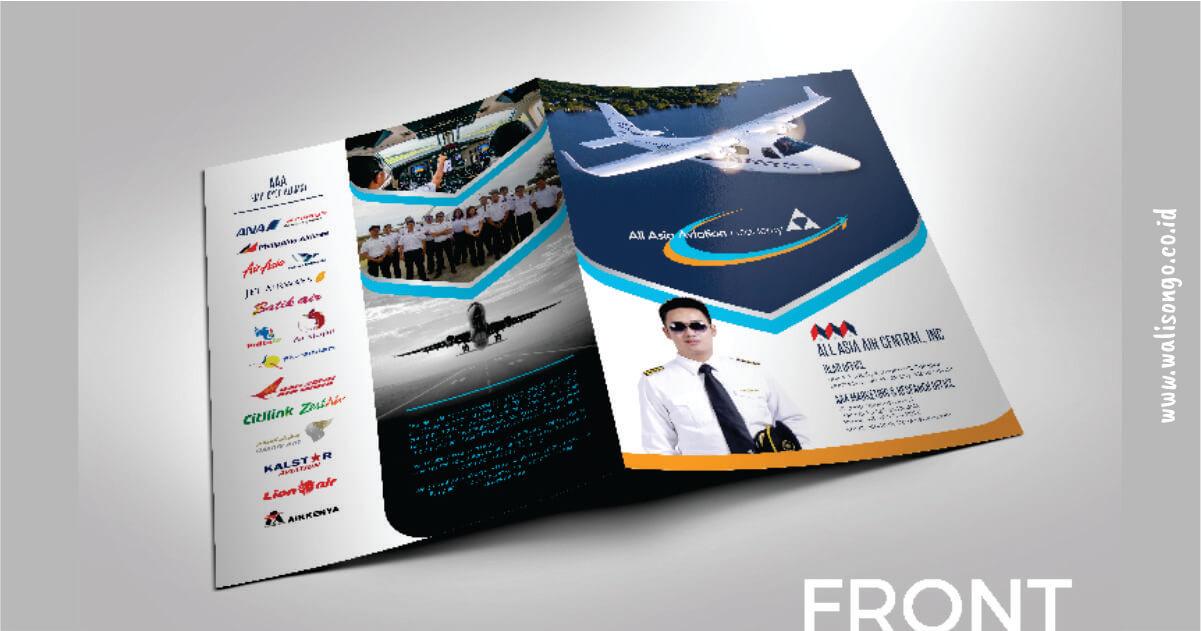 contoh brosur sekolah pesawat