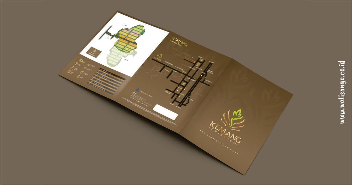 contoh brosur properti elegan