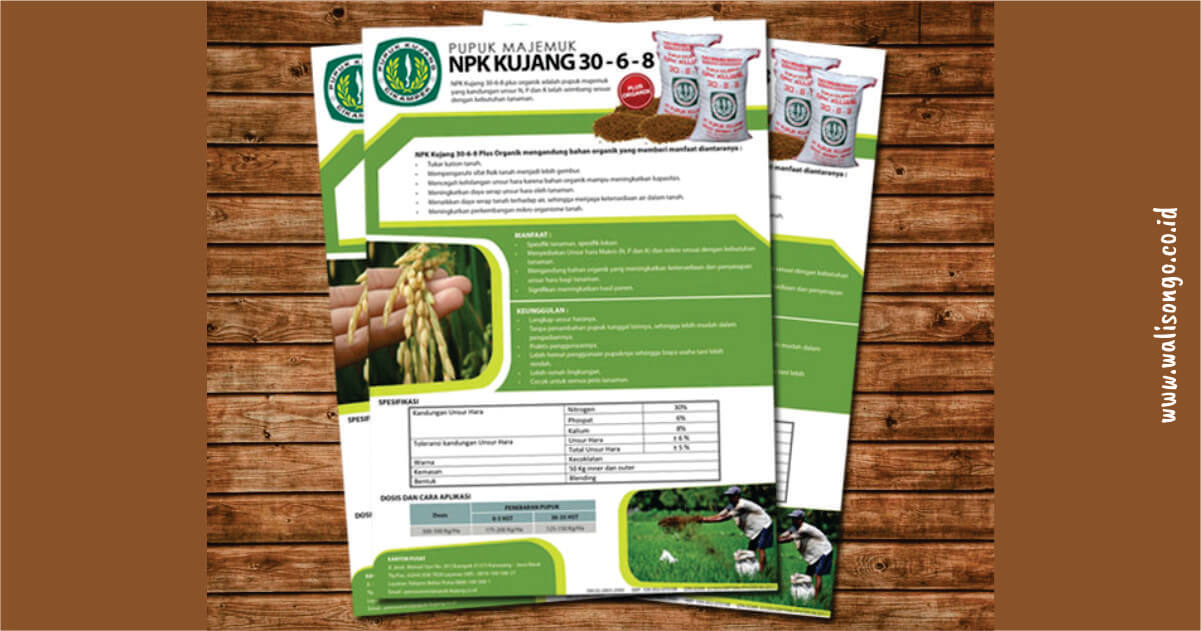 contoh brosur pertanian pupuk