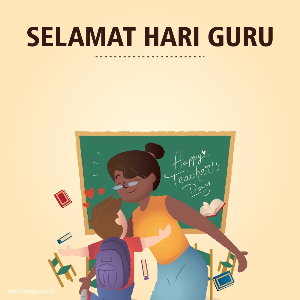 Desain Poster Hari Guru Nasional Keren Ban
