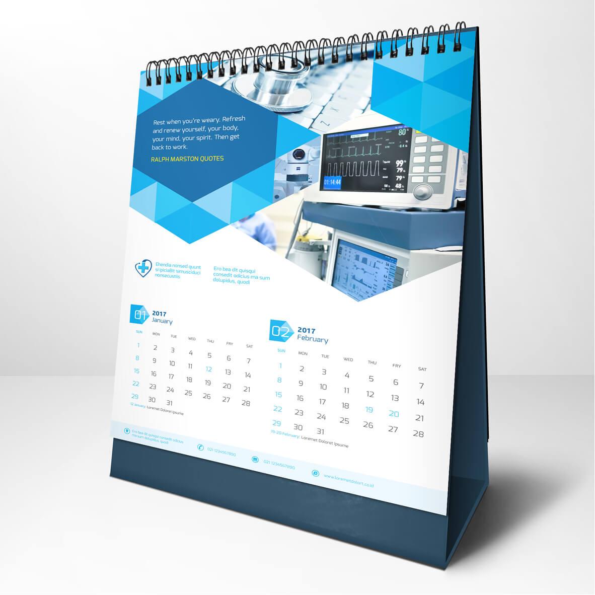 Desain Kalender Keren dan Elegan Terbaru