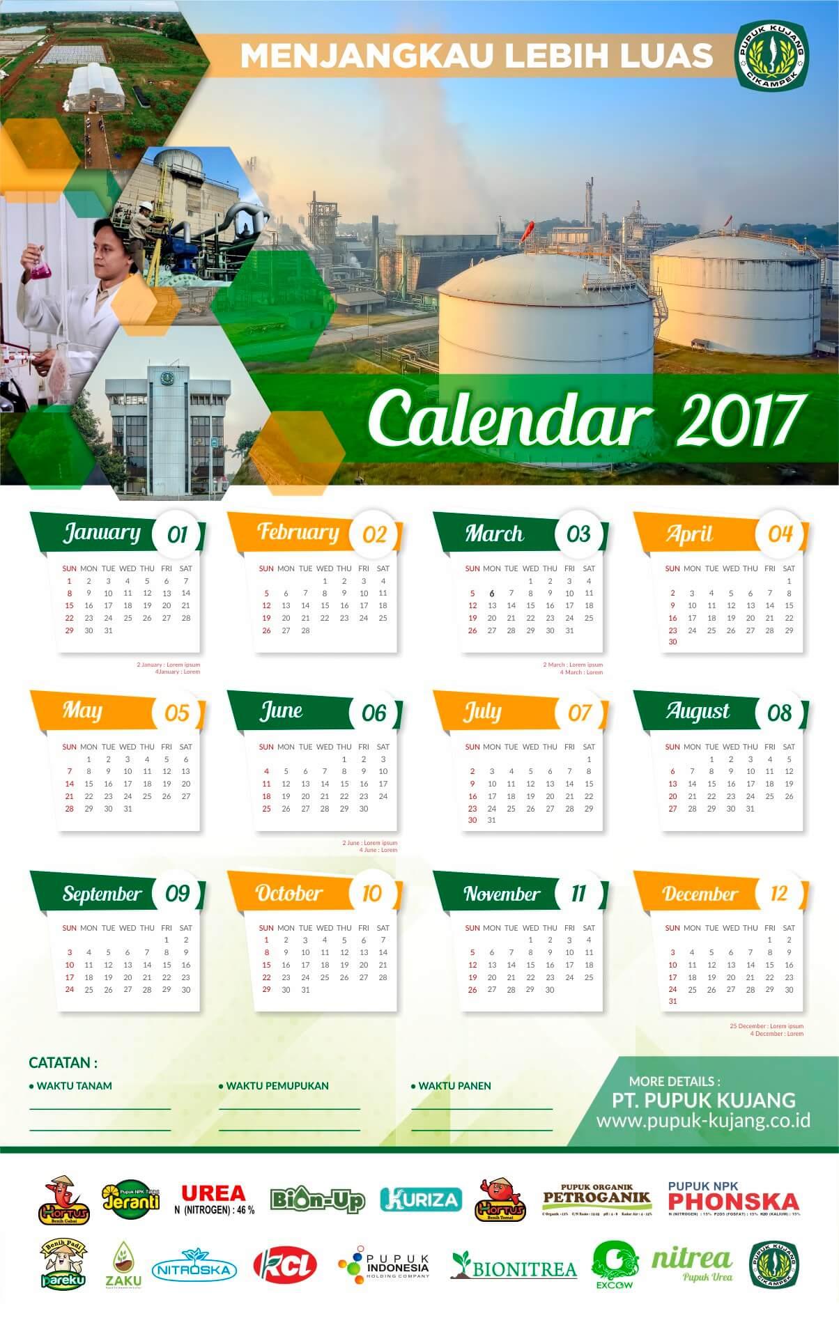 desain kalender keren