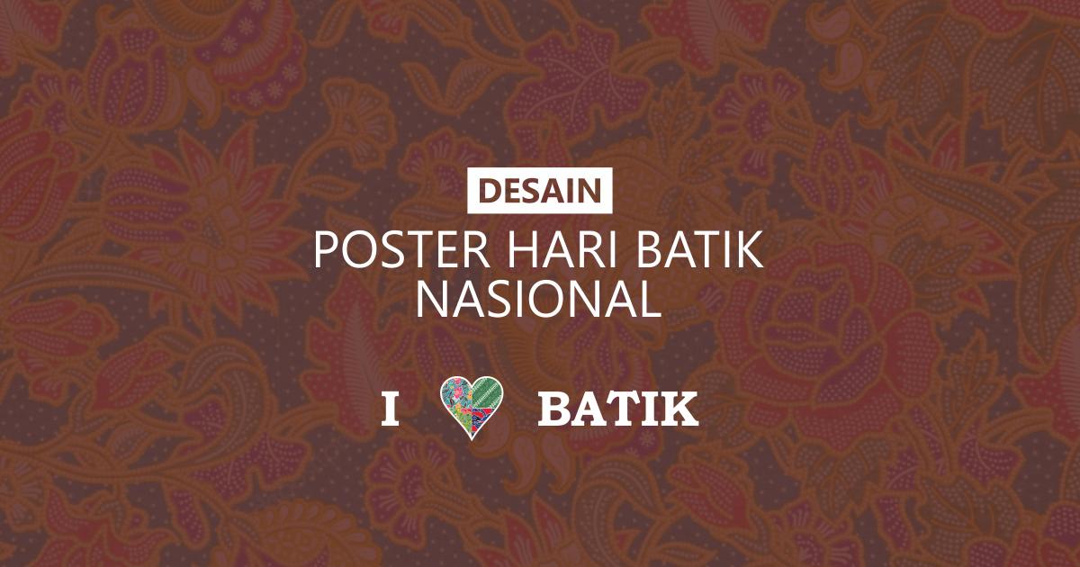 desain poster hari batik nasional