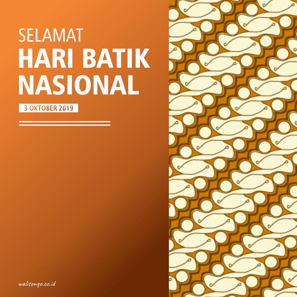 Desain Poster Background Untuk Hari Batik Nasional