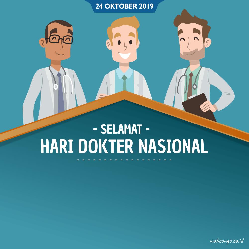 Poster hari dokter nasional elegan