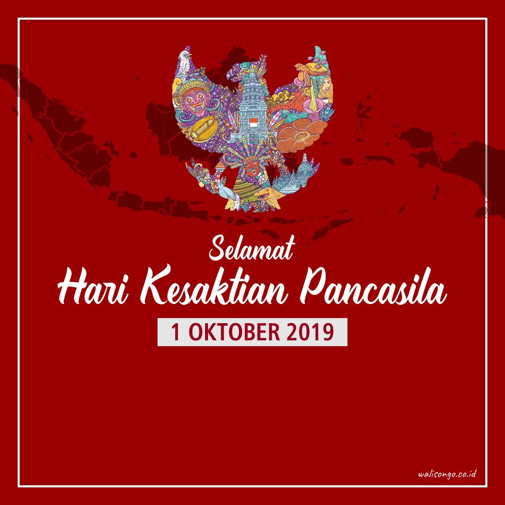 Desain Poster / Kartu Ucapan Hari Kesaktian Pancasila 2019