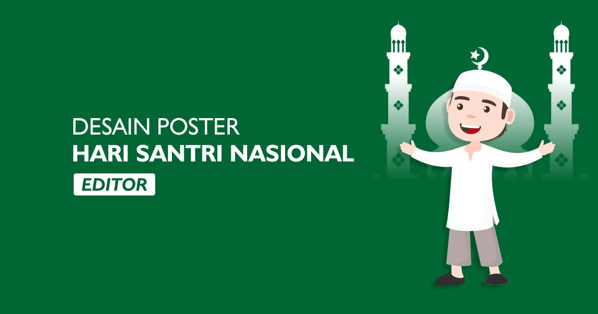 desain poster hari santri