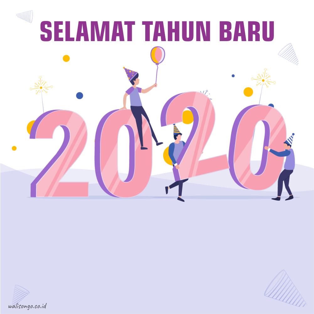 Desain Poster / Kartu Ucapan / Background Tahun Baru 2020 ...