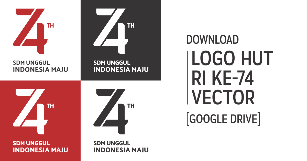 Download Logo HUT RI ke-74