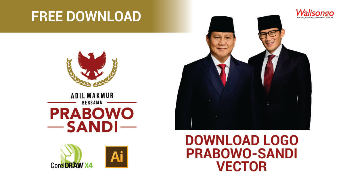 download logo prabowo sandi vector