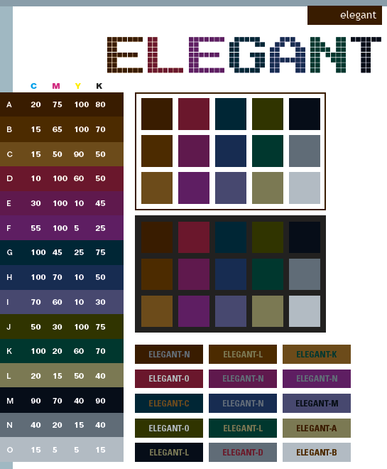 contoh warna elegan