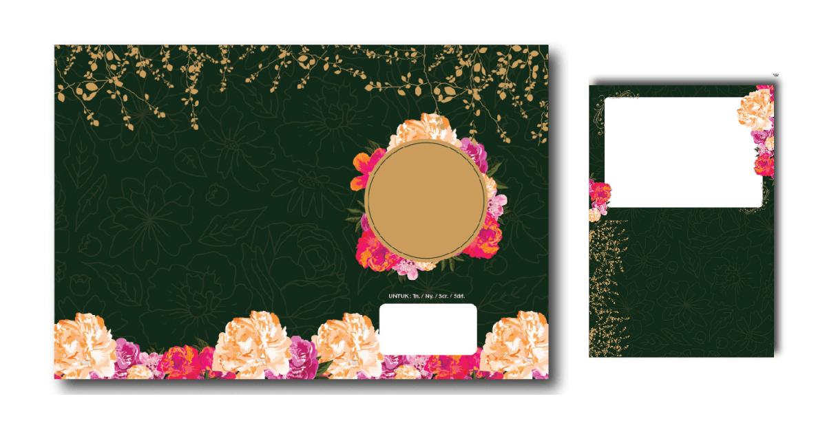 desain undangan pernikahan bunga