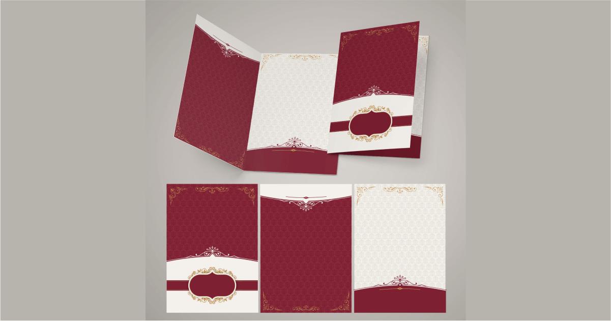 desain undangan pernikahan elegan merah