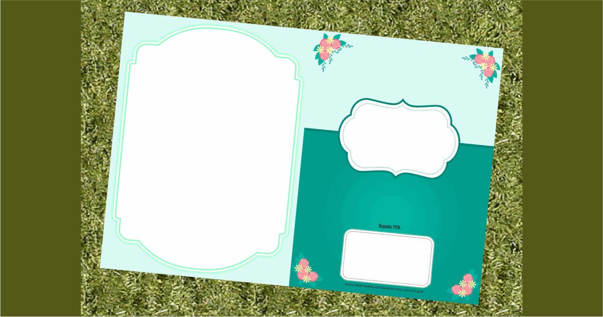 desain undangan pernikahan minimalis simple