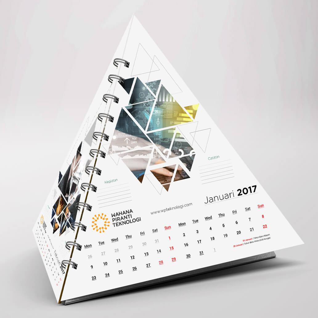 desain kalender unik