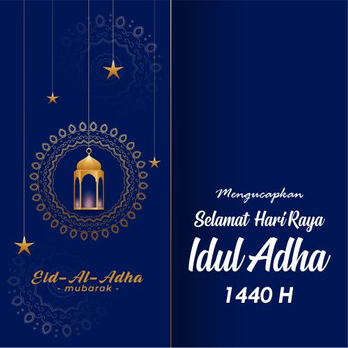Bikin Kartu Ucapan Idul Adha 1440H Desain Keren