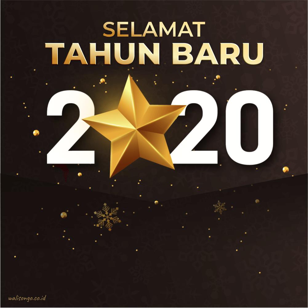 kartu ucapan tahun baru 2020