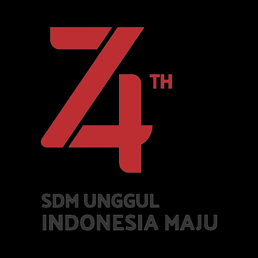 Logo HUT RI Ke-74 transparan