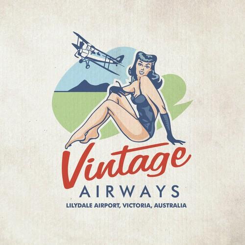 logo keren travel vintage