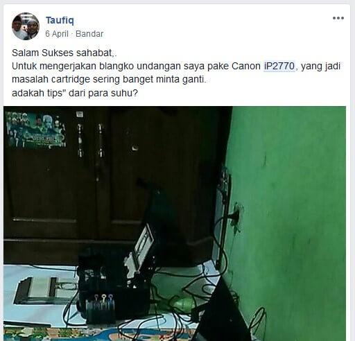 kelemahan canon ip2770