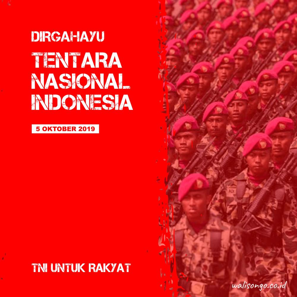 poster / kartu ucaoan peringatan hari tentara nasional indonesia 2019