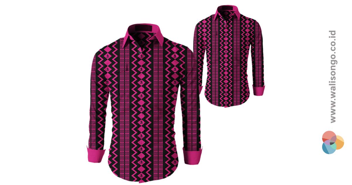 seragam batik pink