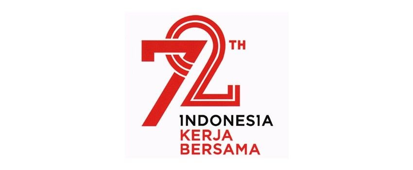 logo hut RI ke 72 vector