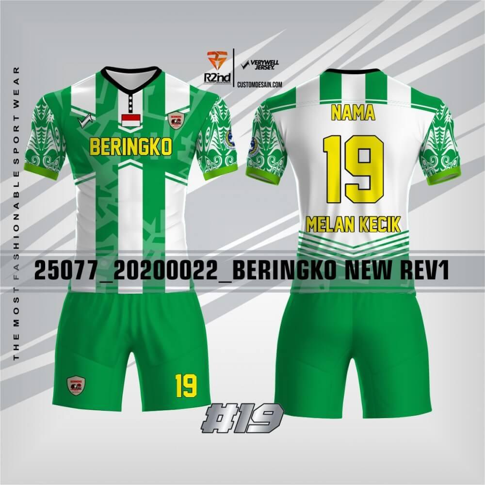 contoh jersey futsal hijau