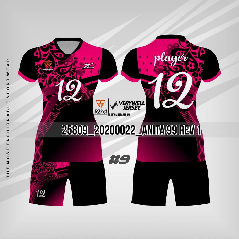 desain jersey futsal hitam