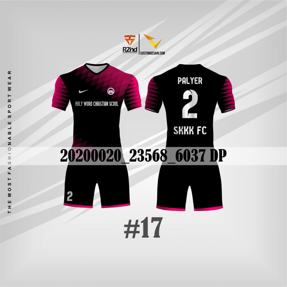 contoh jersey futsal hitam