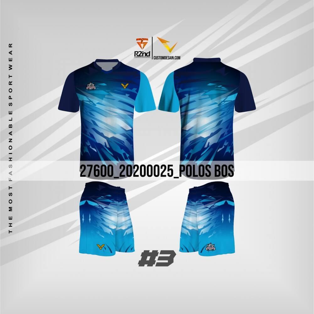 desain kaos futsal biru