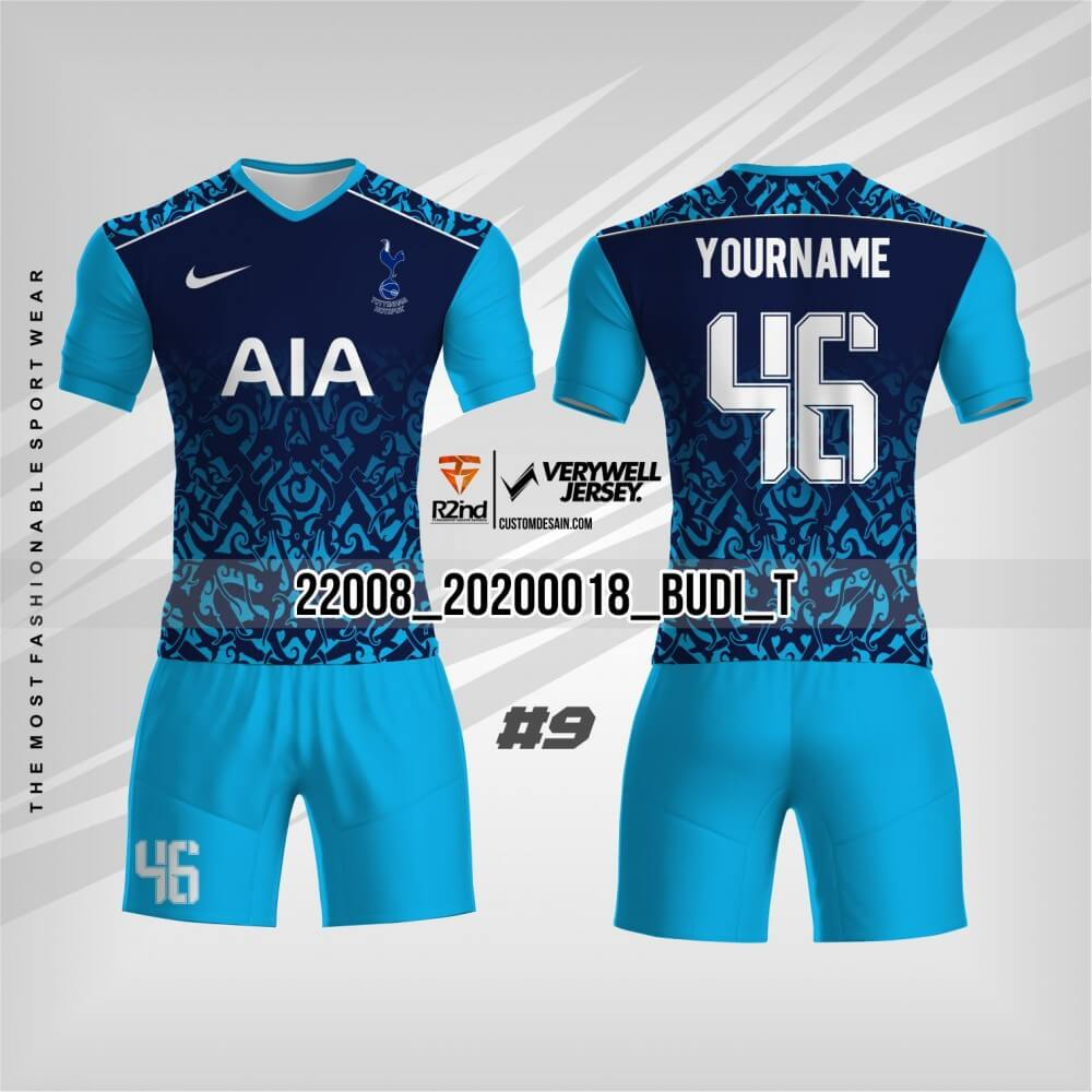 desain jersesy futsal biru