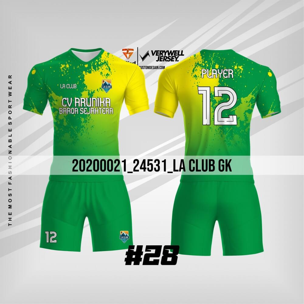 desain kaos futsal hijau