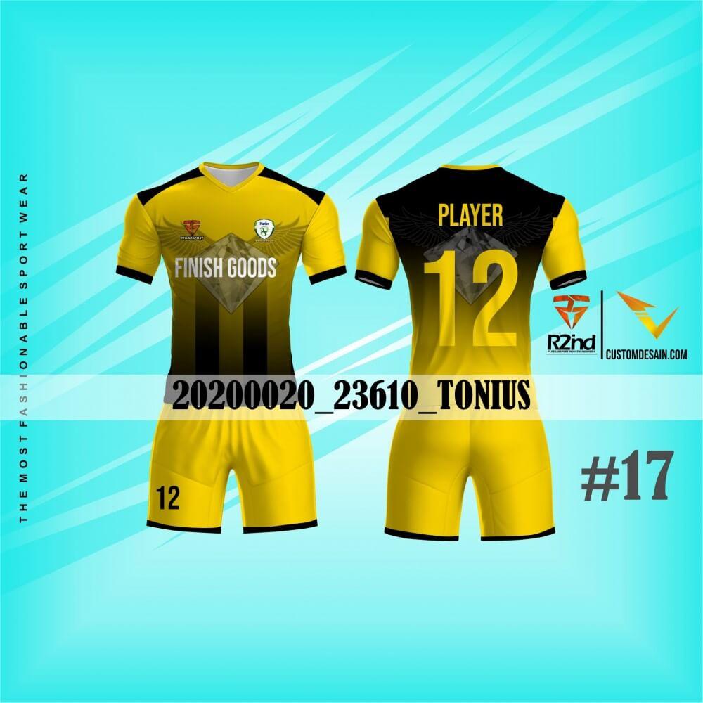 desain jersey futsal kuning
