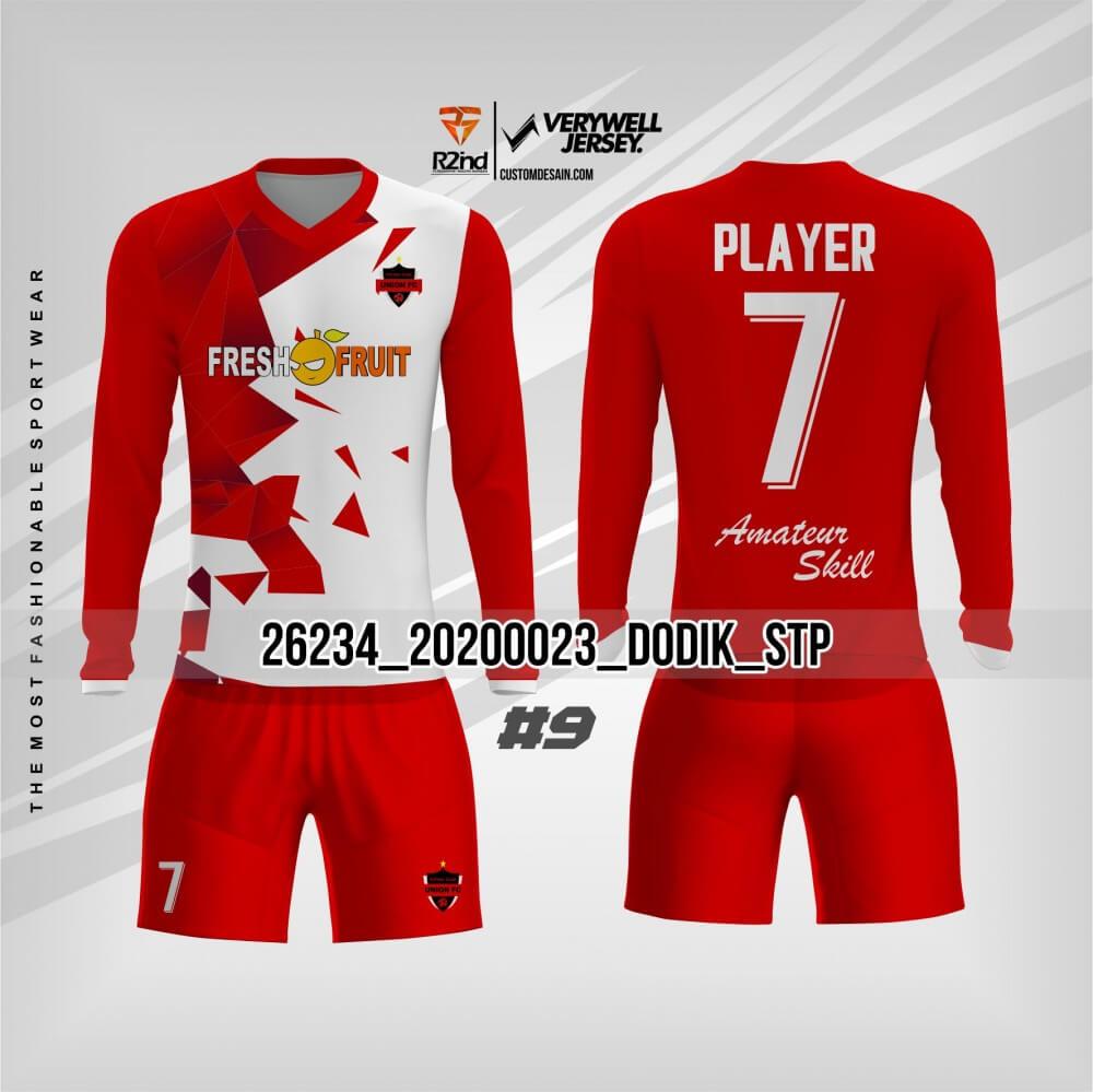 desain jersey futsal merah
